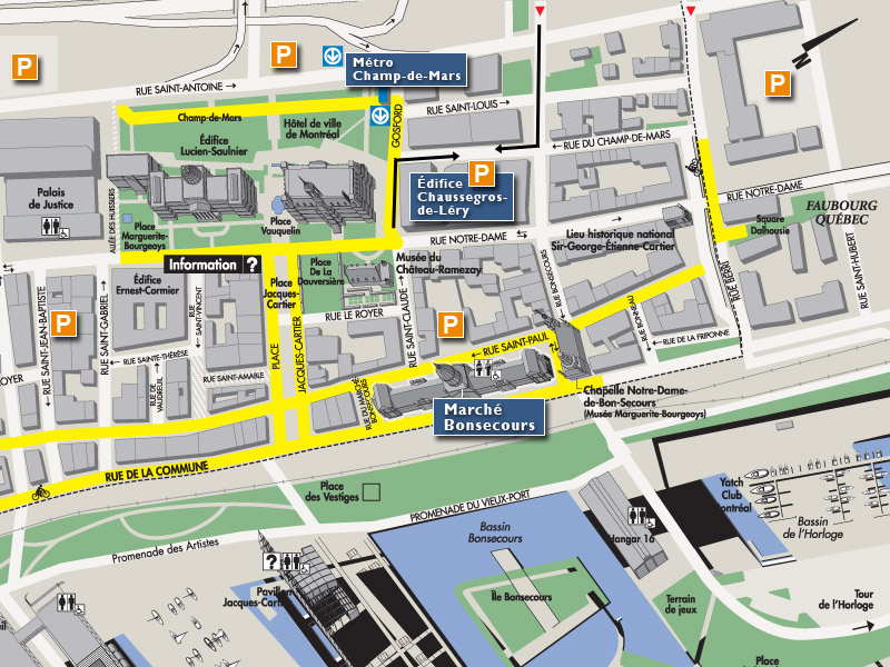 Old Montreal Hotels Map